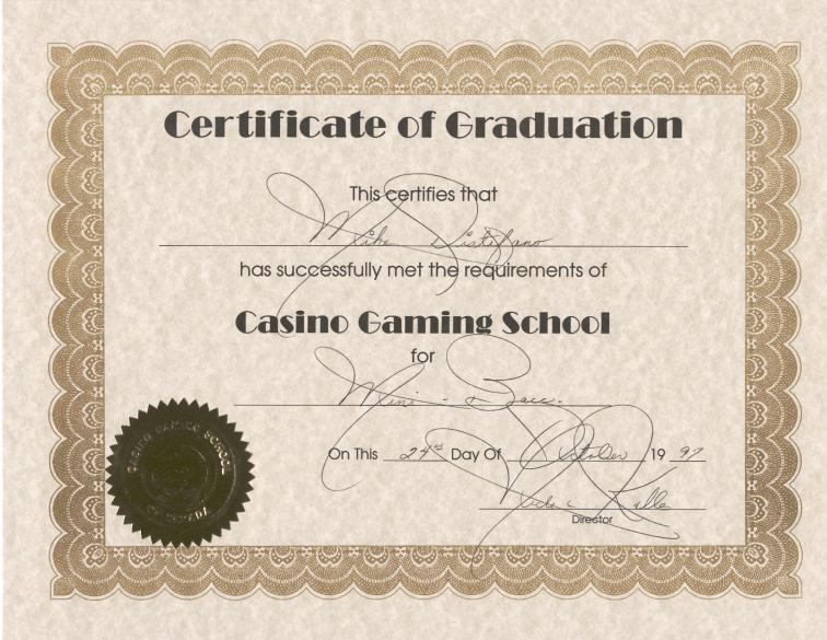Certificate in casino management casino in globe